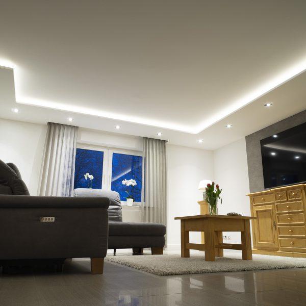 Anspruchsvolle Wohnzimmerbeleuchtung