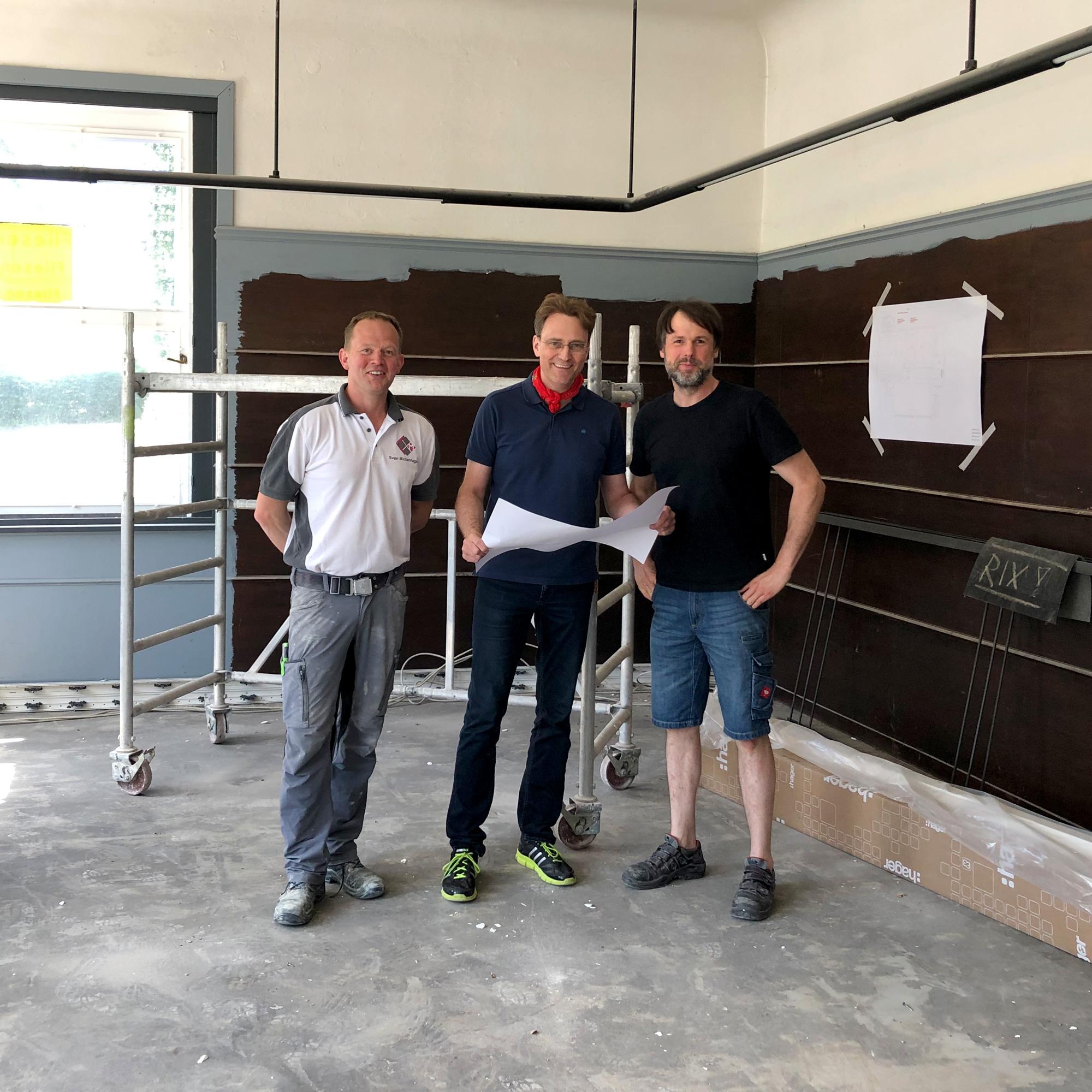 Sven Mickenhagen, Nils Rix und Christian Kaulbach