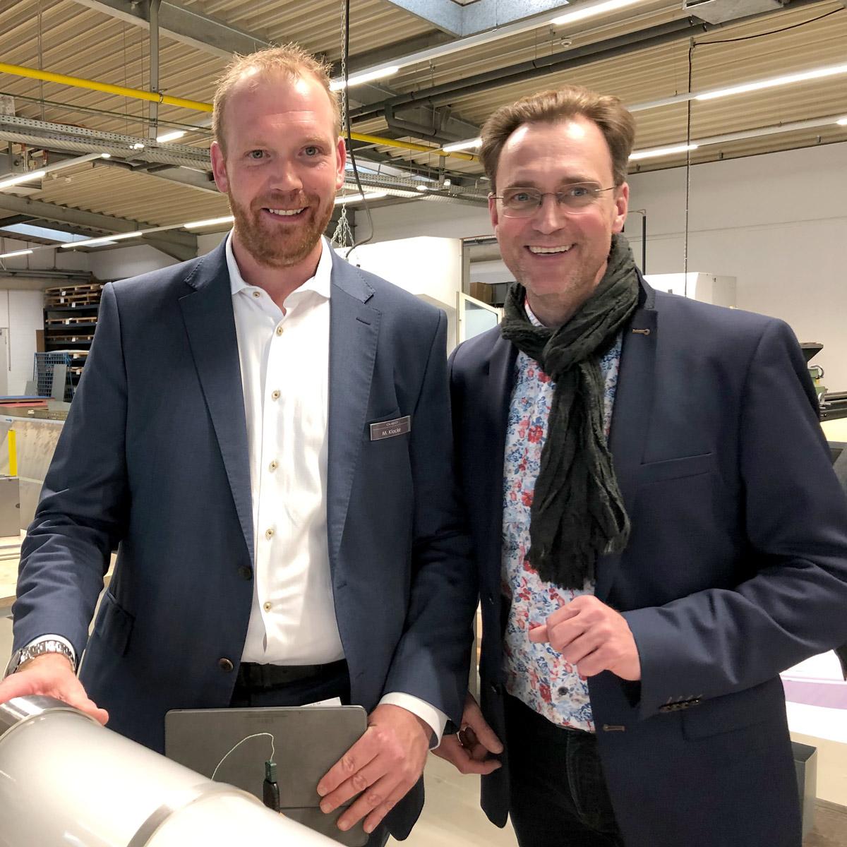 Nils Rix mit Marcel Klocke, dem Vertriebsleiter von OLIGO