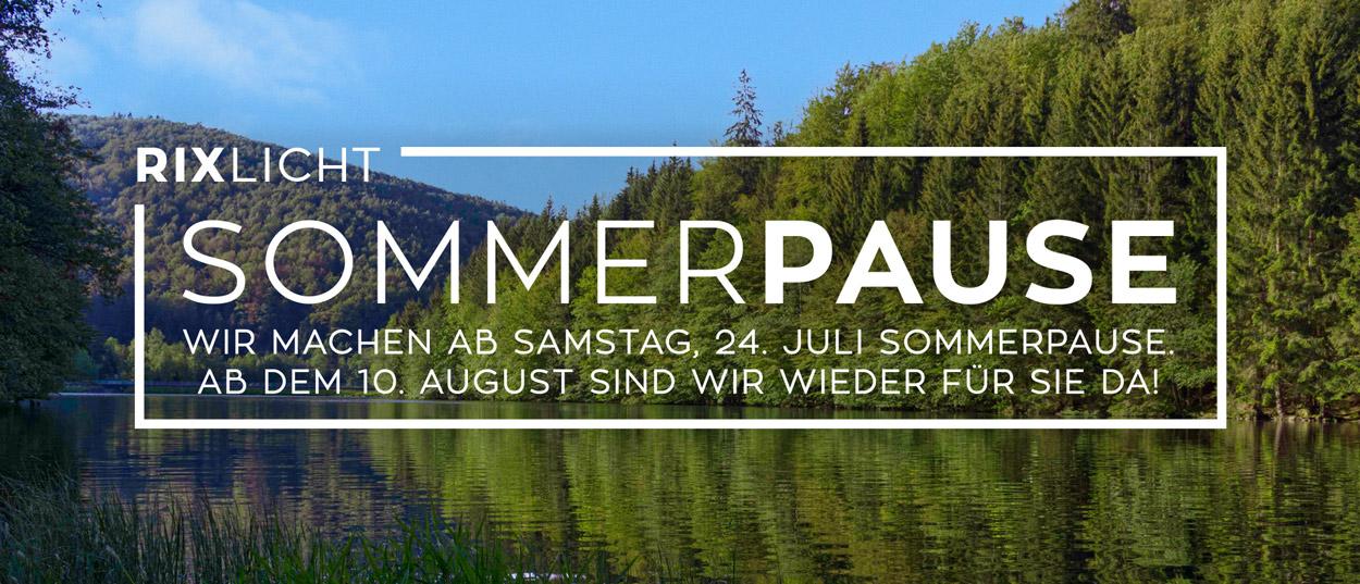 Wir machen ab Samstag, 24. Juli Sommerpause. Ab dem 10. August sind wir wieder für Sie da!